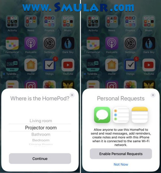 apple homepod connect to iphone