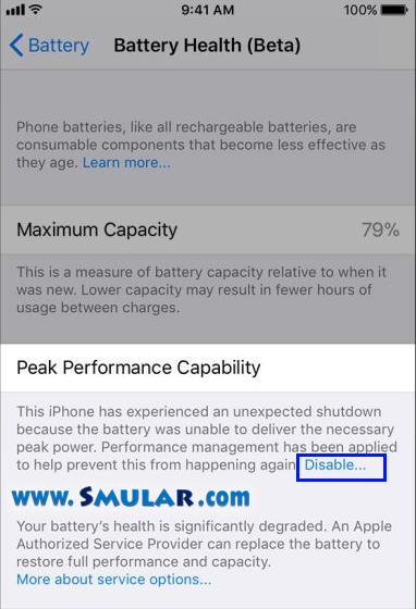 iphone unexpected shutdown 2