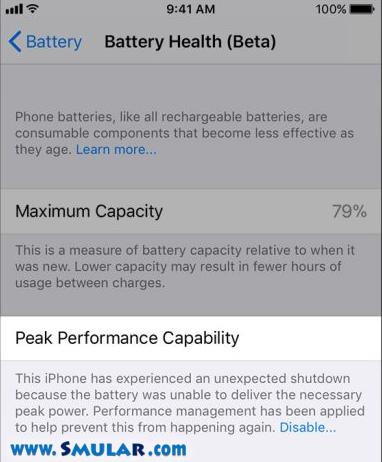 iphone unexpected shutdown