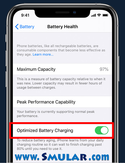 iphone optimized battery charging