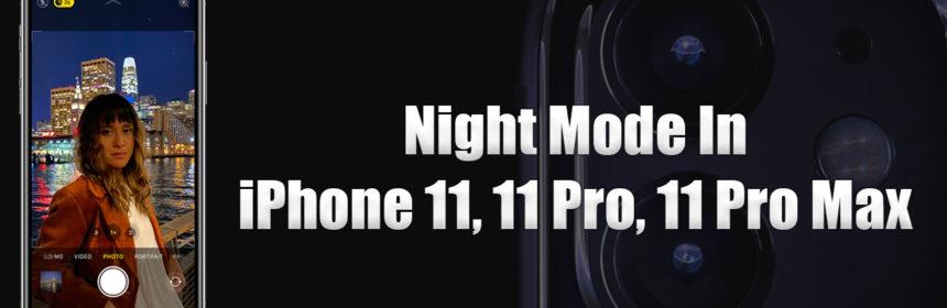 night mode iphone 11