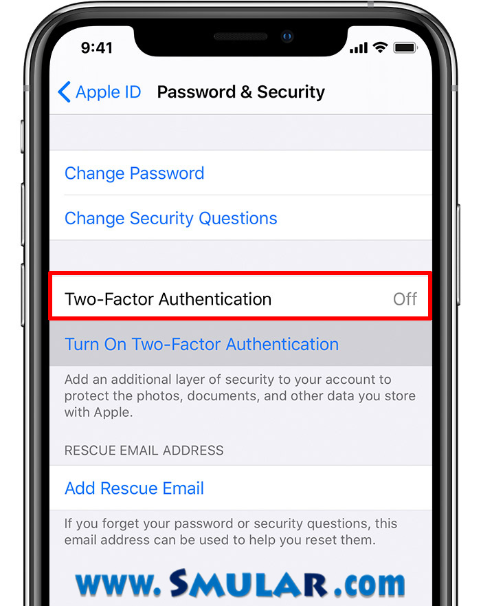 apple id two factor authentification
