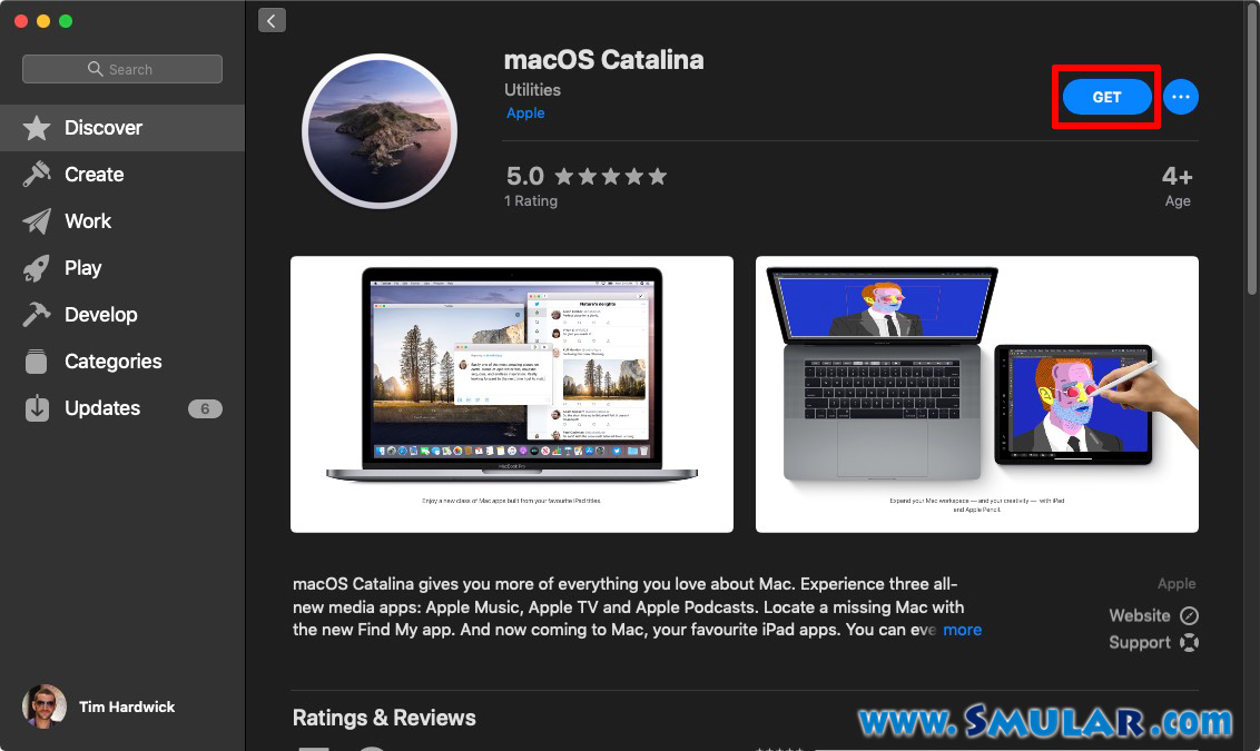 update macos catalina